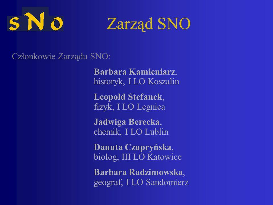 Zarząd SNO Członkowie Zarządu SNO: