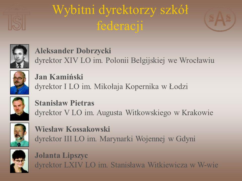 Wybitni dyrektorzy szkół federacji