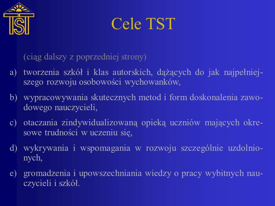 Cele TST (ciąg dalszy z poprzedniej strony)