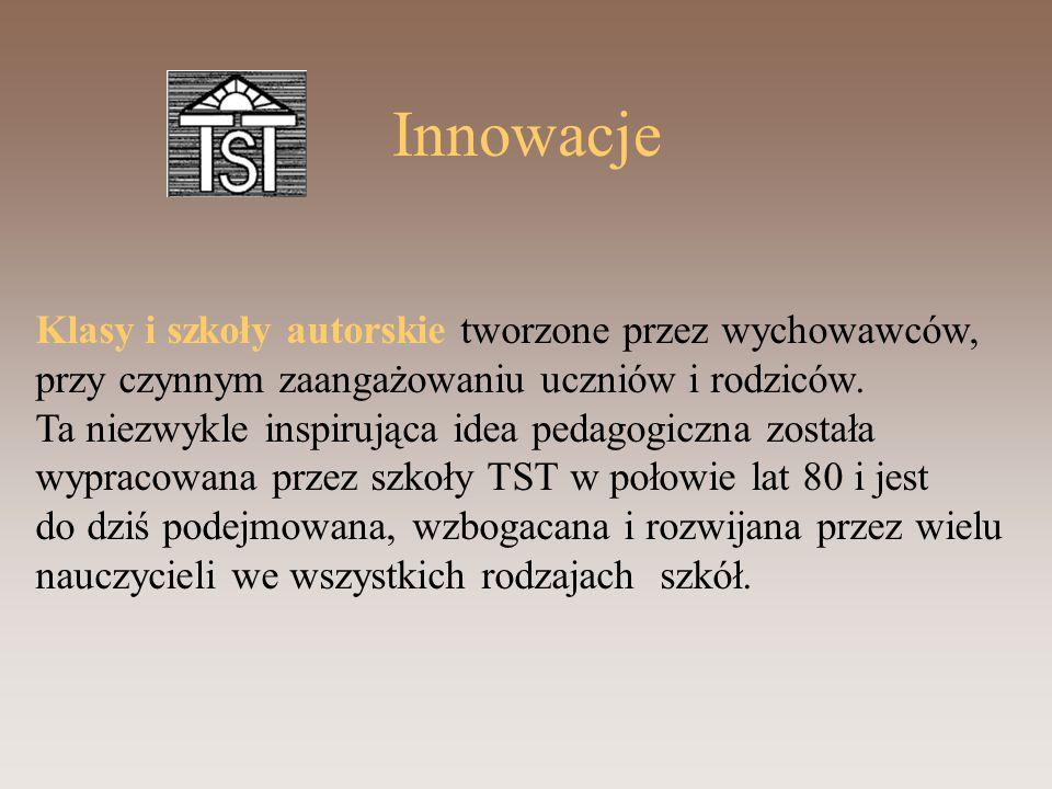 Innowacje Klasy i szkoły autorskie tworzone przez wychowawców,
