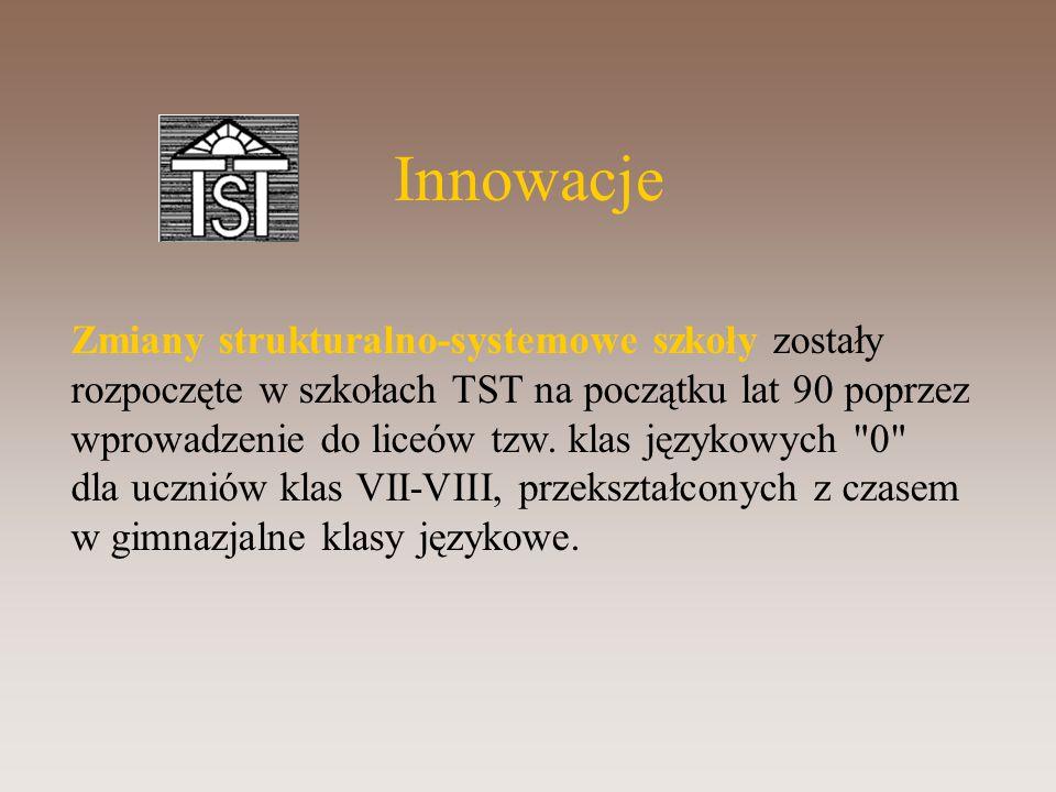 Innowacje Zmiany strukturalno-systemowe szkoły zostały