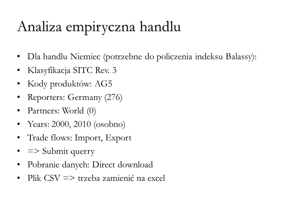 Analiza empiryczna handlu