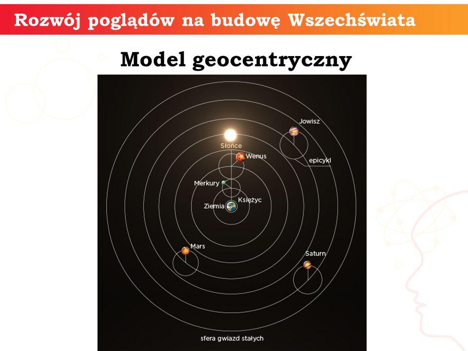 Model geocentryczny Rozwój poglądów na budowę Wszechświata