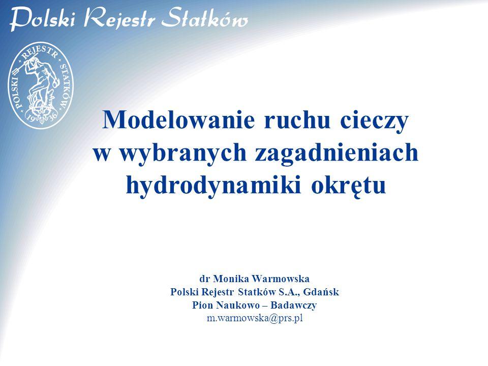Polski Rejestr Statków S.A., Gdańsk Pion Naukowo – Badawczy