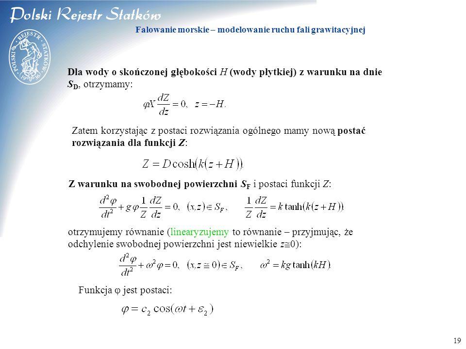 Falowanie morskie – modelowanie ruchu fali grawitacyjnej