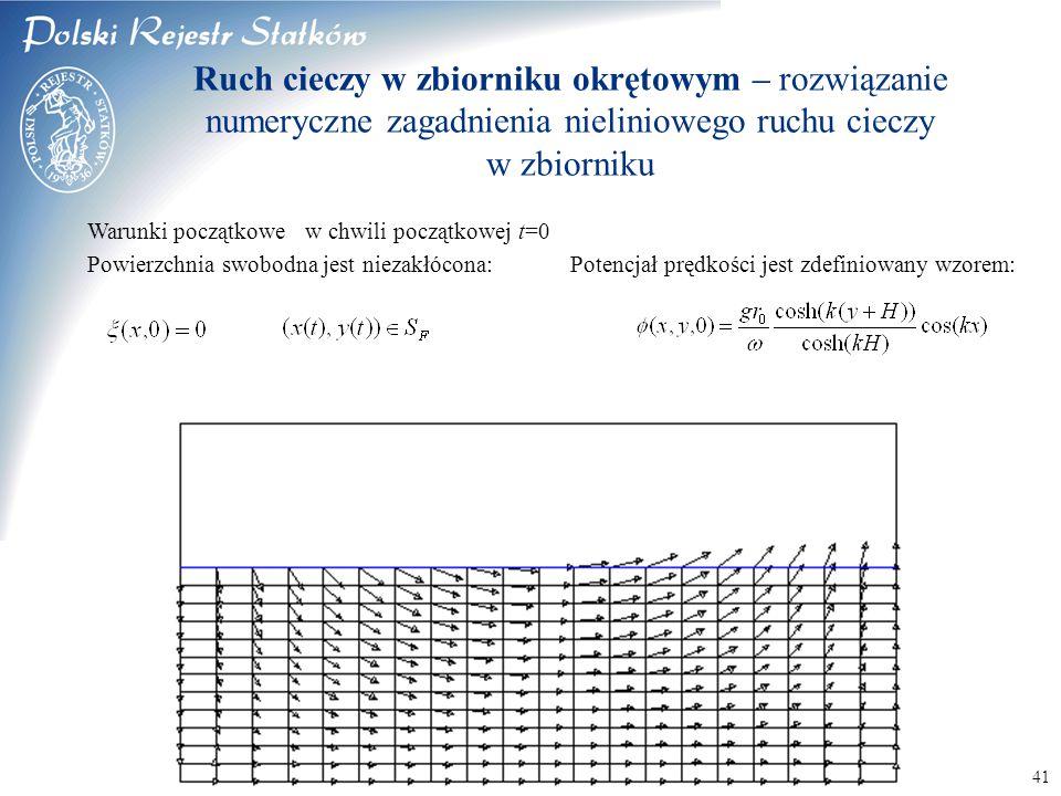 Ruch cieczy w zbiorniku okrętowym – rozwiązanie numeryczne zagadnienia nieliniowego ruchu cieczy w zbiorniku