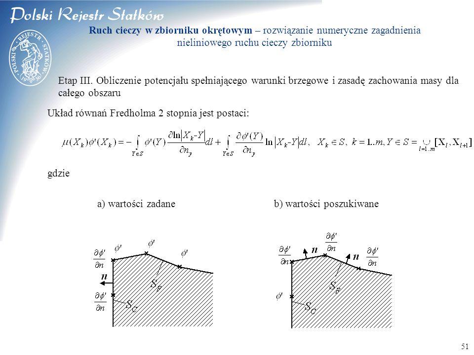 Układ równań Fredholma 2 stopnia jest postaci: