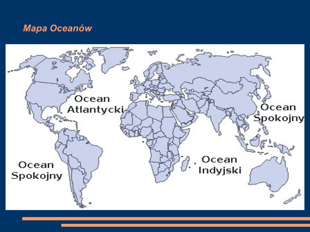 Mapa Oceanów