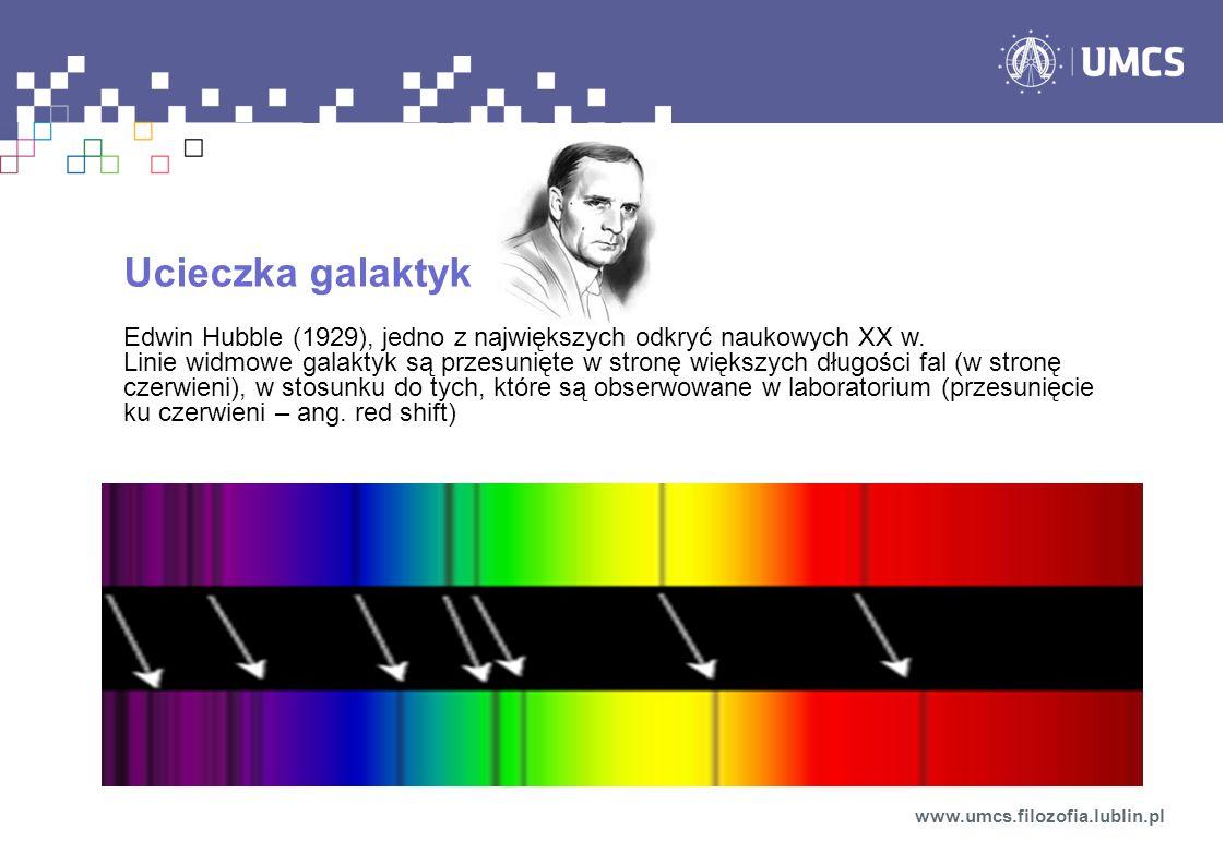 Ucieczka galaktyk Edwin Hubble (1929), jedno z największych odkryć naukowych XX w.