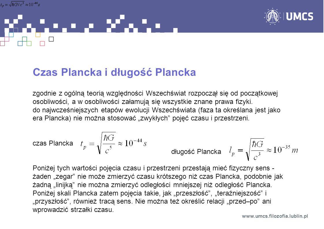 Czas Plancka i długość Plancka