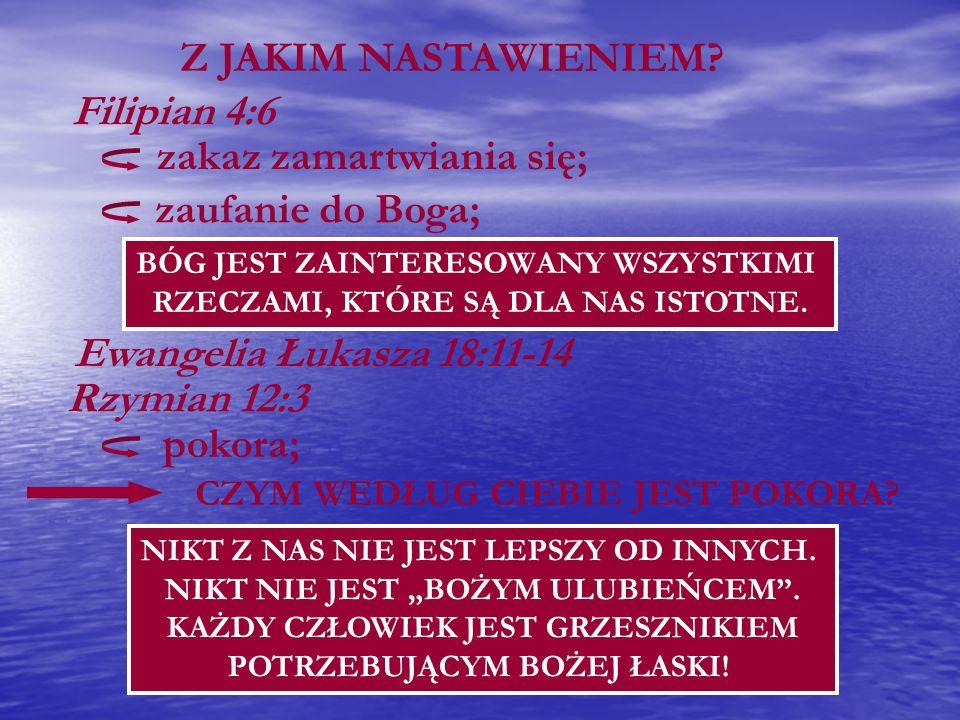 zakaz zamartwiania się; zaufanie do Boga;