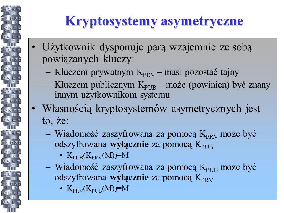 Kryptosystemy asymetryczne