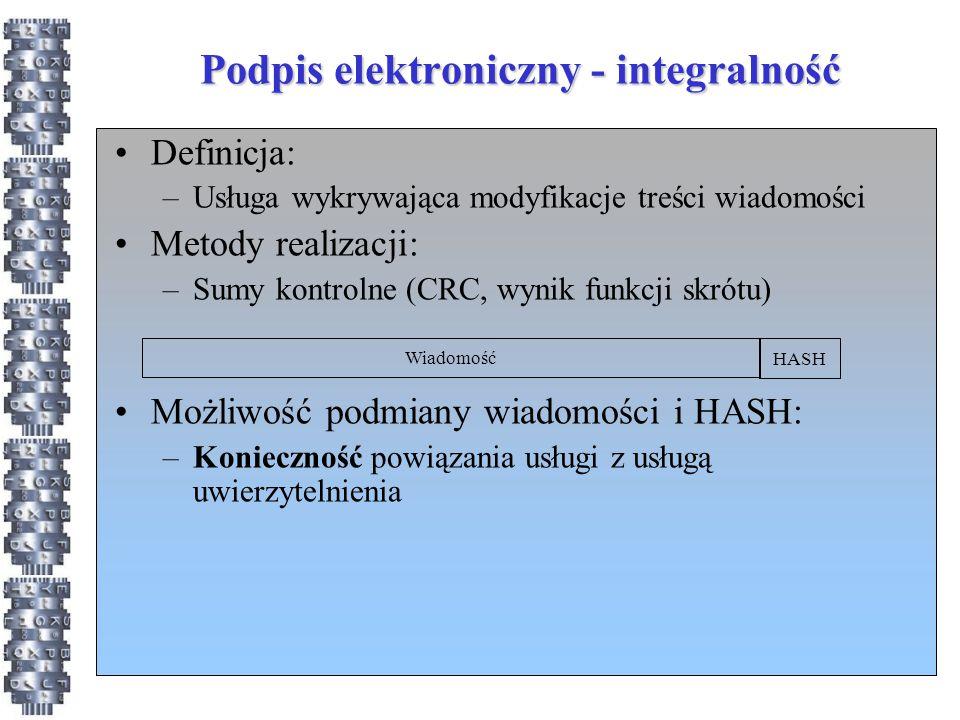 Podpis elektroniczny - integralność