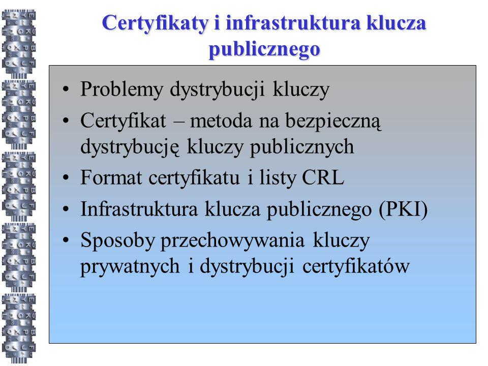 Certyfikaty i infrastruktura klucza publicznego