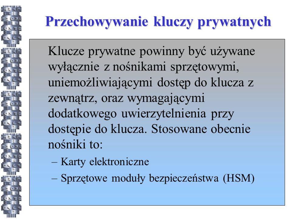Przechowywanie kluczy prywatnych