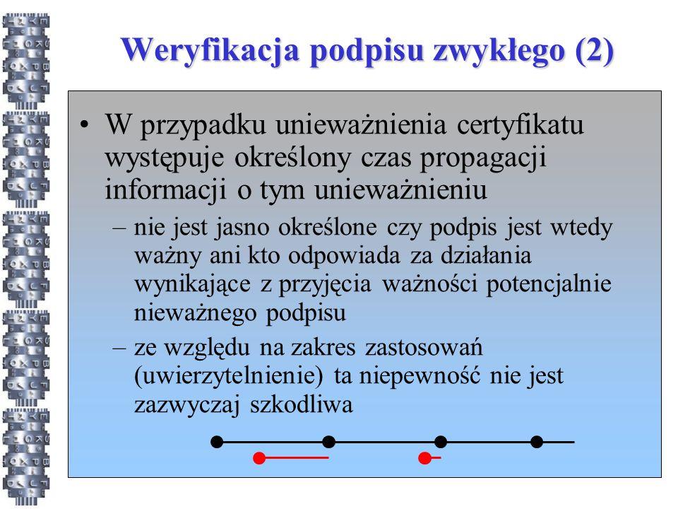 Weryfikacja podpisu zwykłego (2)