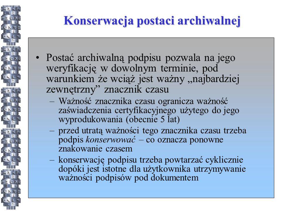 Konserwacja postaci archiwalnej