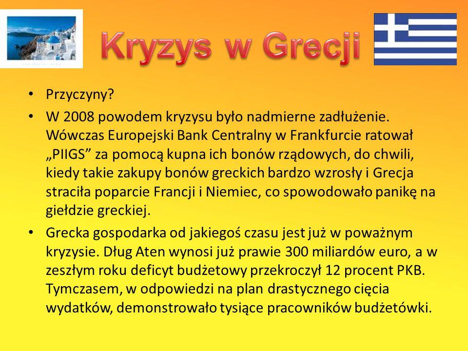 Kryzys w Grecji Przyczyny