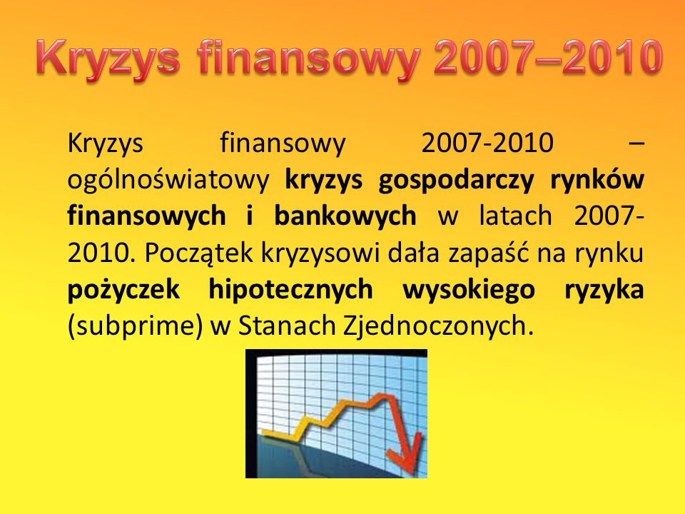 Kryzys finansowy 2007–2010