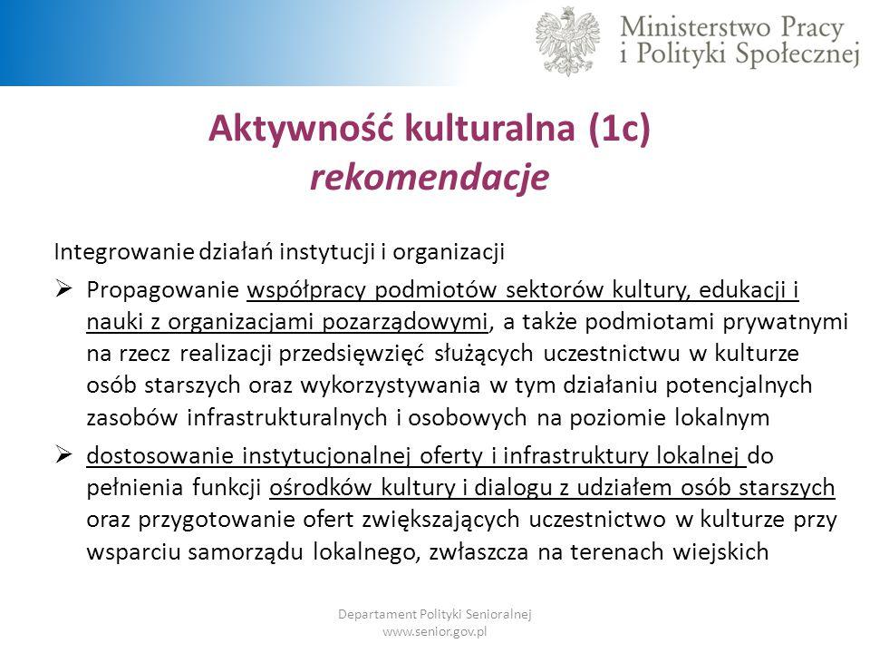 Aktywność kulturalna (1c)