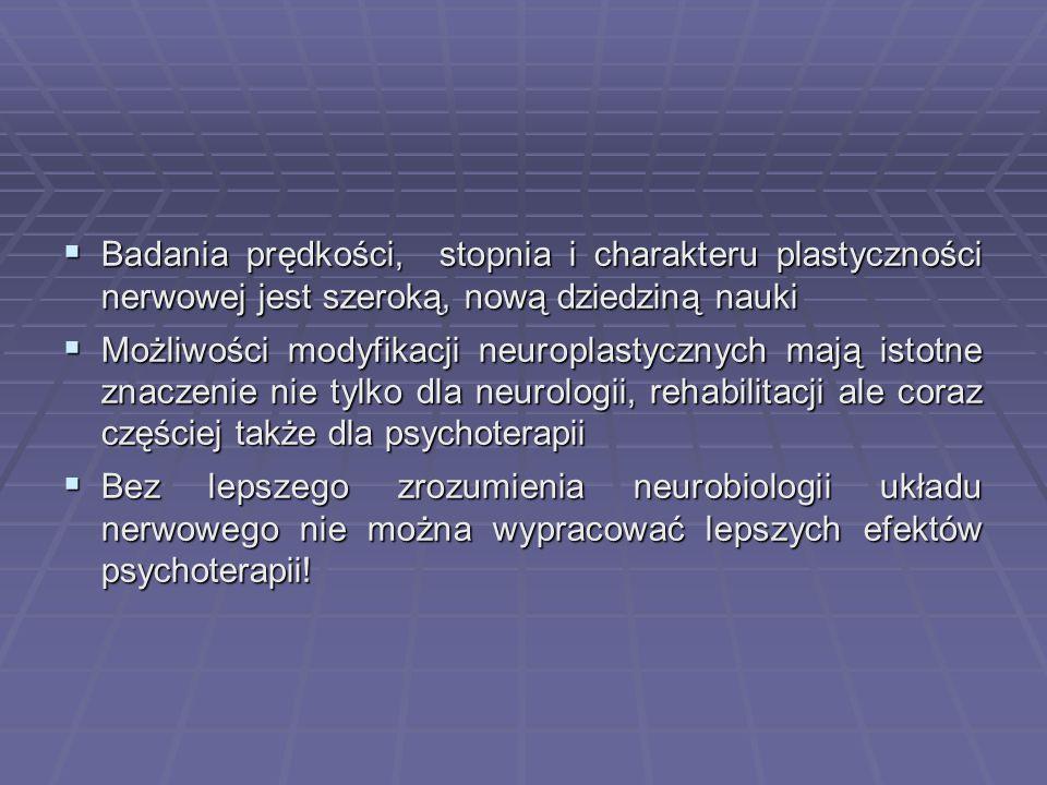 Badania prędkości, stopnia i charakteru plastyczności nerwowej jest szeroką, nową dziedziną nauki