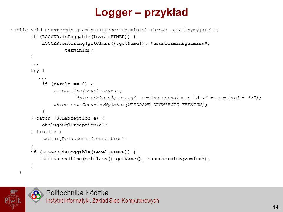 Logger – przykład