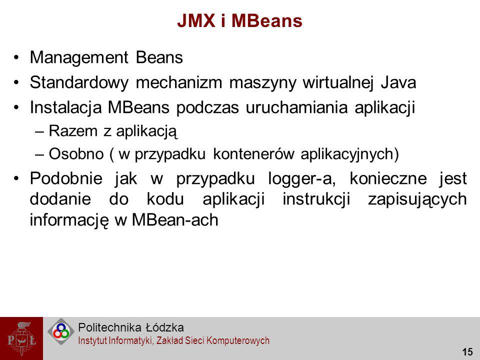 JMX i MBeans Management Beans
