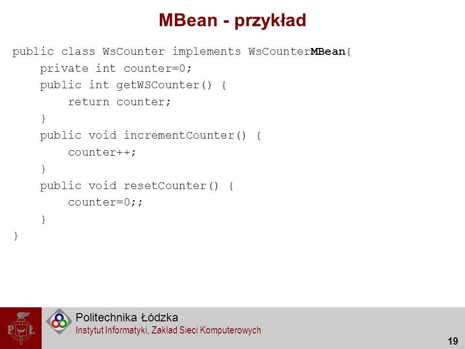 MBean - przykład
