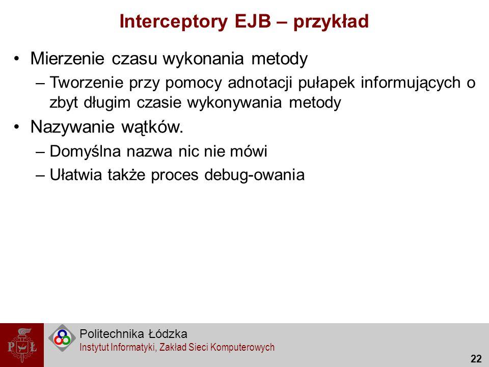 Interceptory EJB – przykład