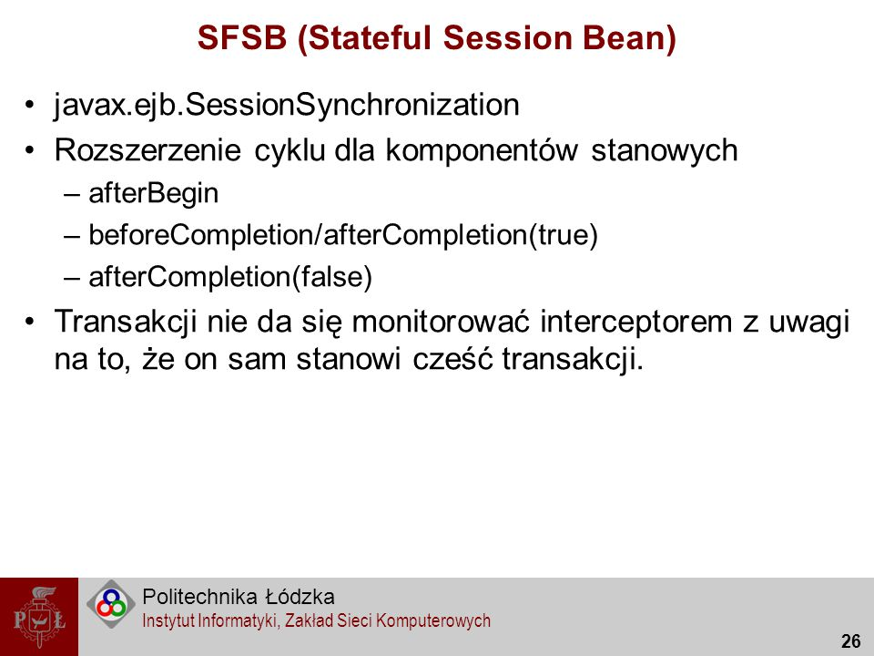 SFSB (Stateful Session Bean)