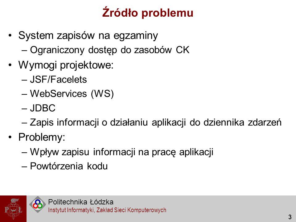 Źródło problemu System zapisów na egzaminy Wymogi projektowe: