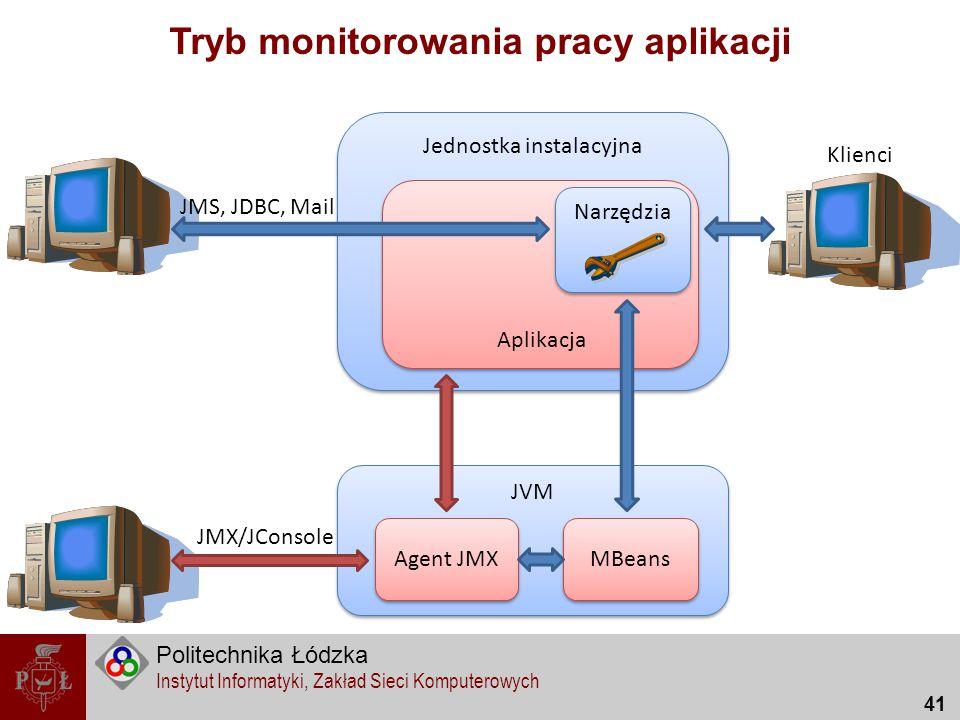 Tryb monitorowania pracy aplikacji