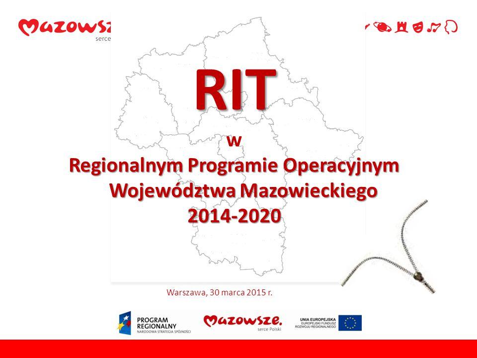 Regionalnym Programie Operacyjnym Województwa Mazowieckiego