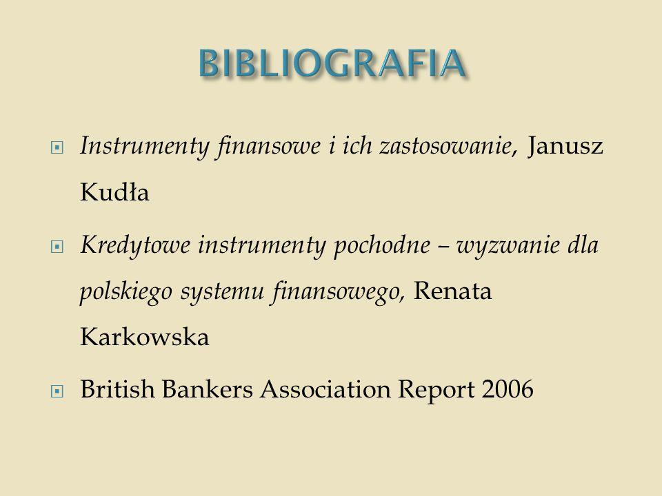 BIBLIOGRAFIA Instrumenty finansowe i ich zastosowanie, Janusz Kudła