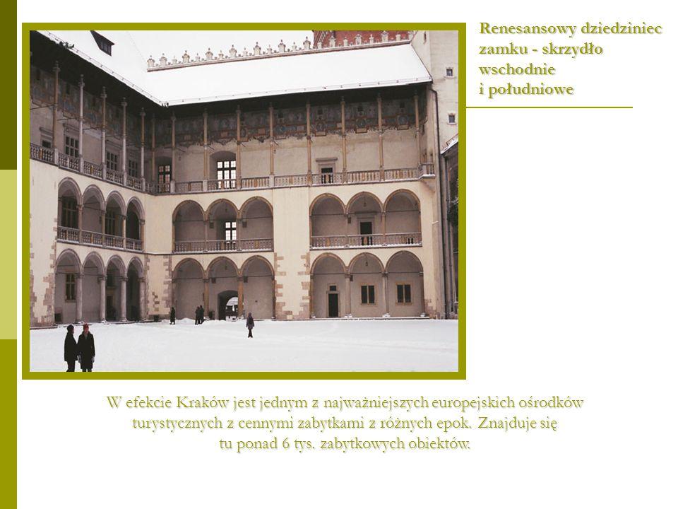 Renesansowy dziedziniec zamku - skrzydło wschodnie i południowe
