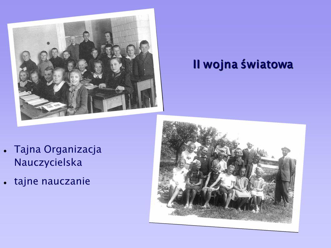 II wojna światowa Tajna Organizacja Nauczycielska tajne nauczanie