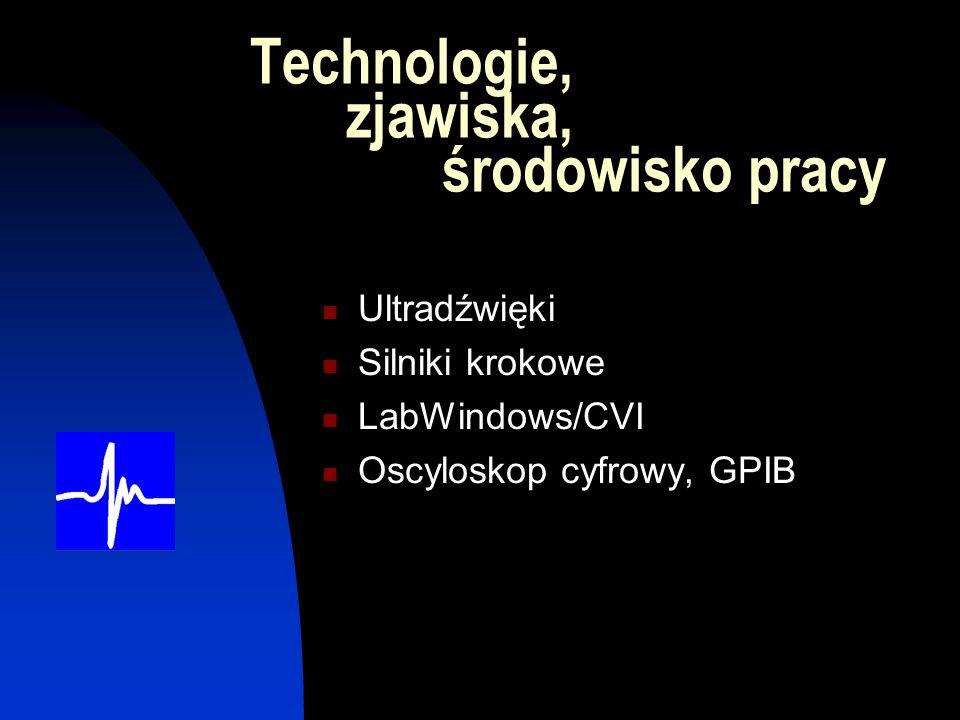 Technologie, zjawiska, środowisko pracy