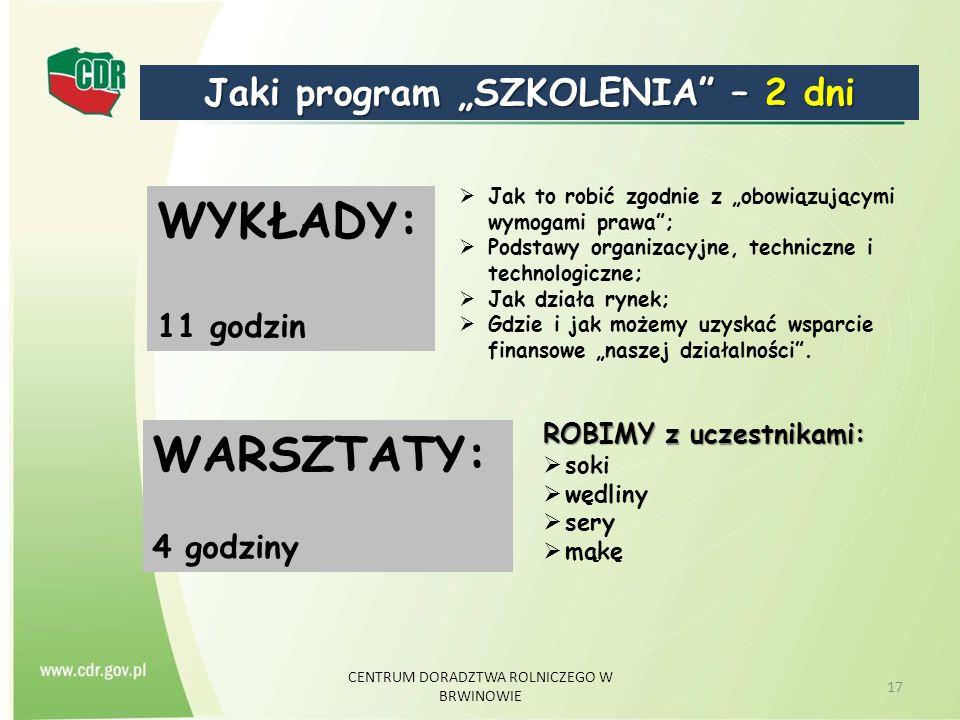 """Jaki program """"SZKOLENIA – 2 dni"""