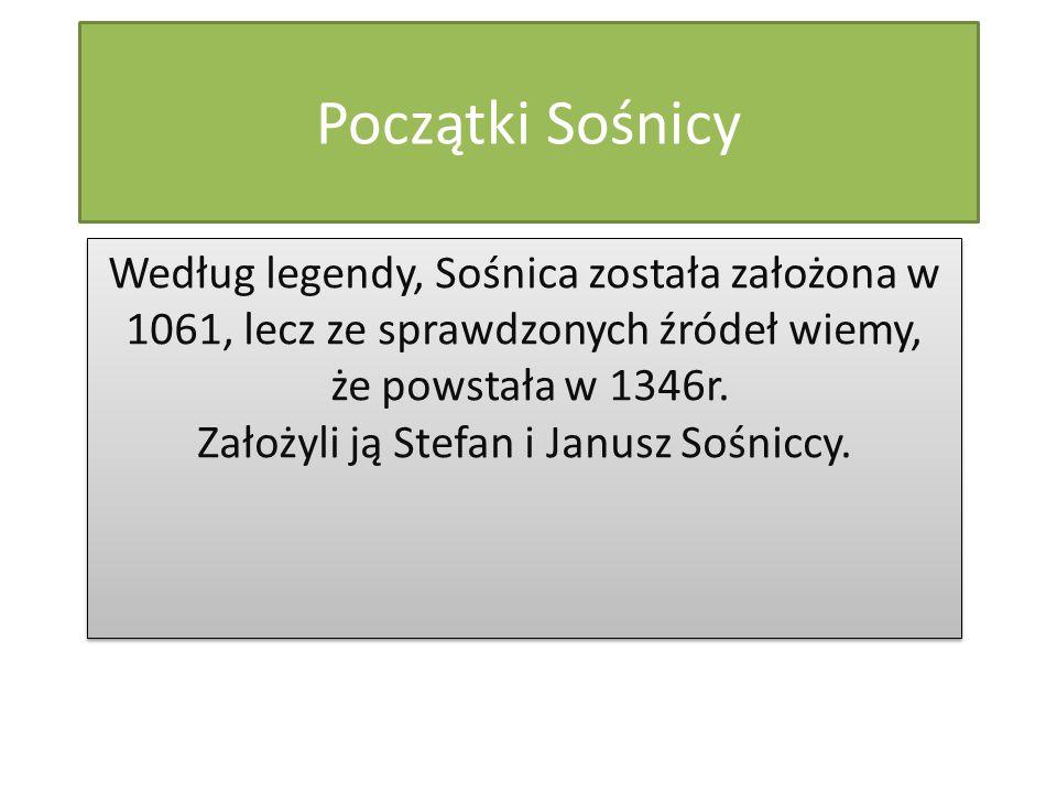 Początki Sośnicy