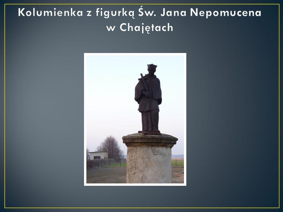 Kolumienka z figurką Św. Jana Nepomucena w Chajętach