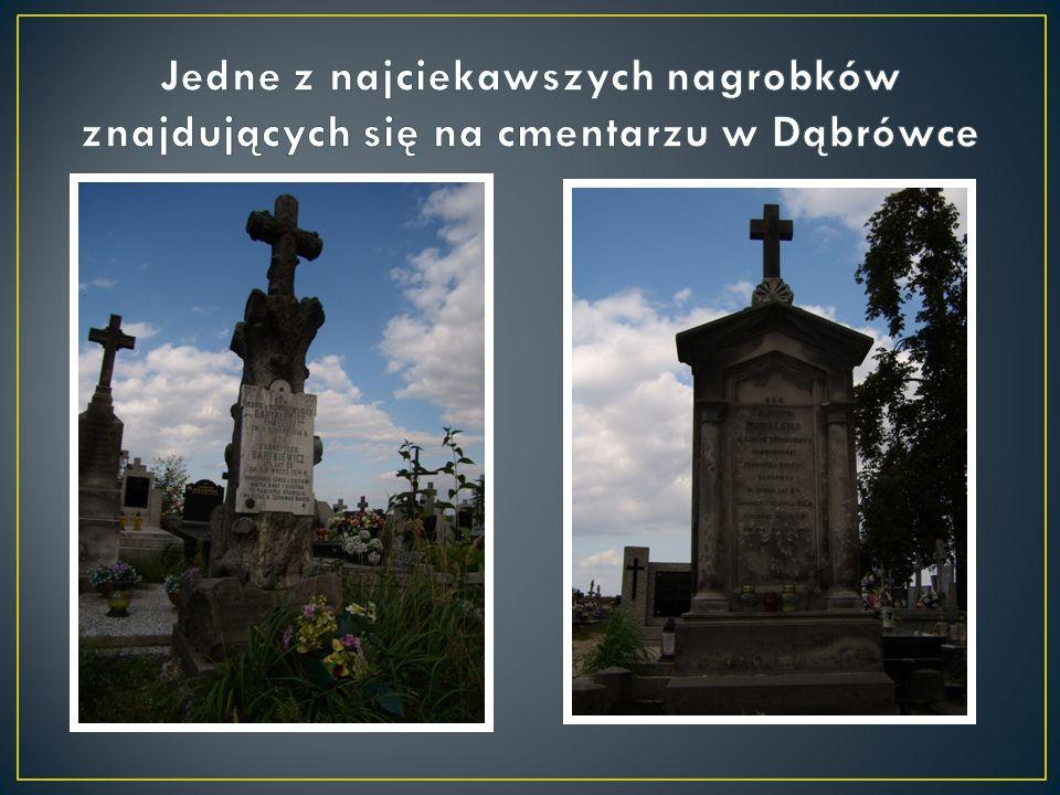 Jedne z najciekawszych nagrobków znajdujących się na cmentarzu w Dąbrówce