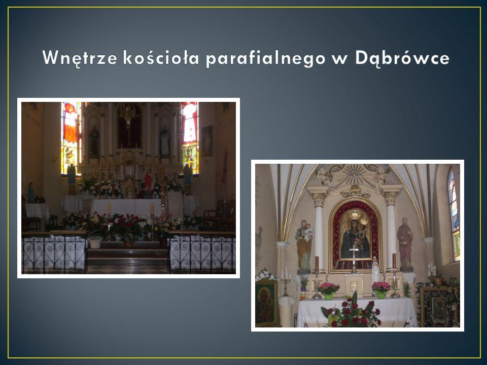 Wnętrze kościoła parafialnego w Dąbrówce