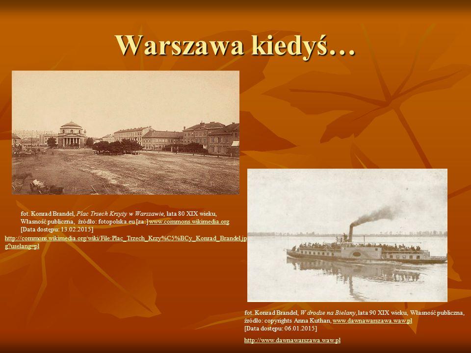 Warszawa kiedyś… fot. Konrad Brandel, Plac Trzech Krzyży w Warszawie, lata 80 XIX wieku,