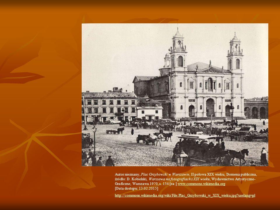 Autor nieznany, Plac Grzybowski w Warszawie, II połowa XIX wieku, Domena publiczna,