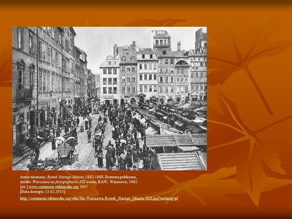 Autor nieznany, Rynek Starego Miasta, 1882-1888, Domena publiczna,