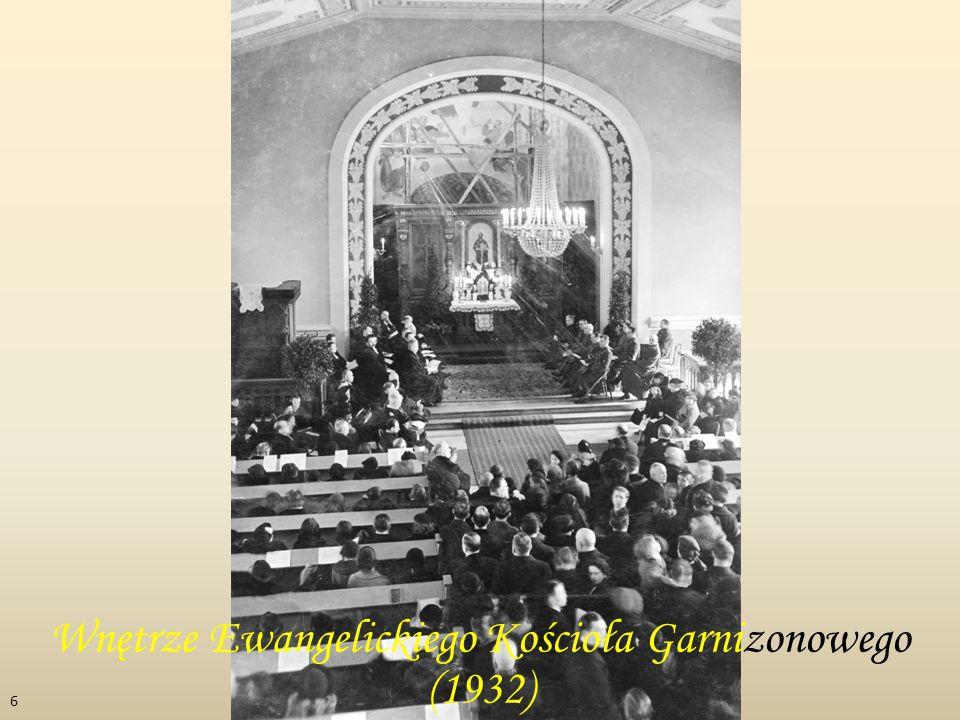 Wnętrze Ewangelickiego Kościoła Garnizonowego (1932)