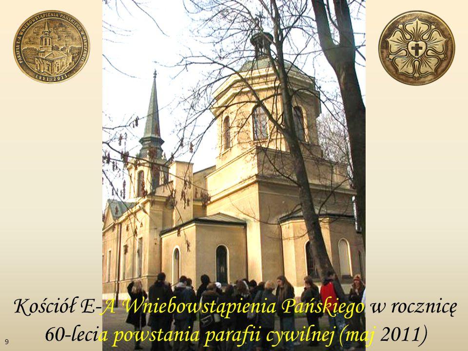 Kościół E-A Wniebowstąpienia Pańskiego w rocznicę 60-lecia powstania parafii cywilnej (maj 2011)