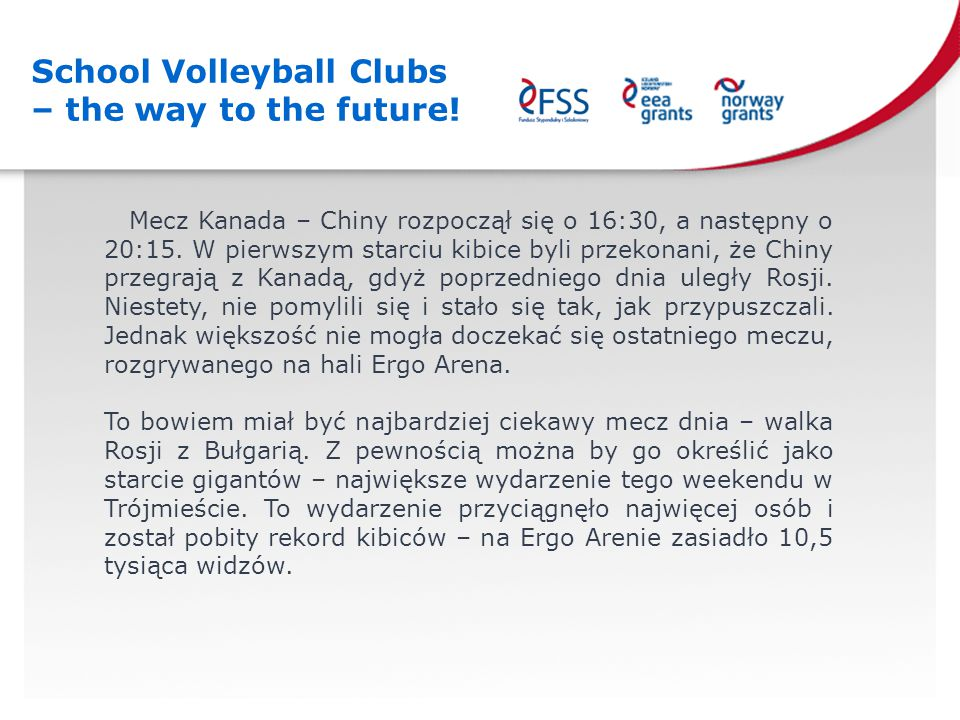 School Volleyball Clubs – the way to the future!