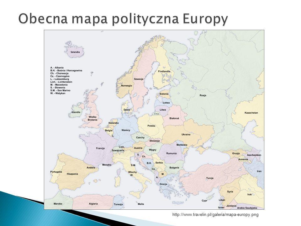 Obecna mapa polityczna Europy
