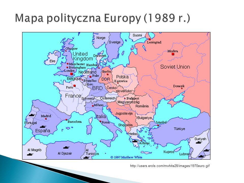Mapa polityczna Europy (1989 r.)